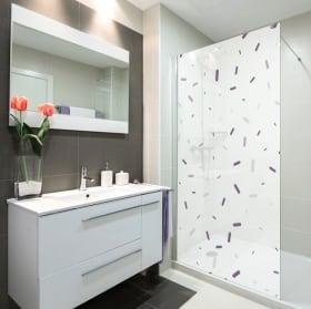 Vinili schermi del bagno stile di memphis