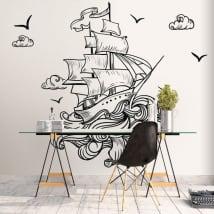 Vinile muri barca nel mare