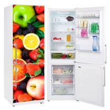 Vinili refrigeratori e frigoriferi collage di frutta