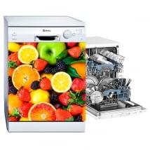 Vinili lavastoviglie collage di frutta