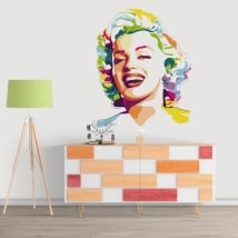 Sticker murale marilyn monroe