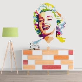 Sticker murale marilyn monroe