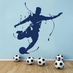 Sticker murale calcio spruzzo