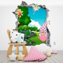 Vinile per bambini gnome e fate magiche 3d