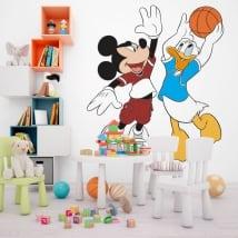 Vinili topolino e paperino pallacanestro