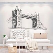 Vinile decorativo pareti london tower bridge