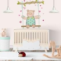 Vinili muri bambini orso e swing