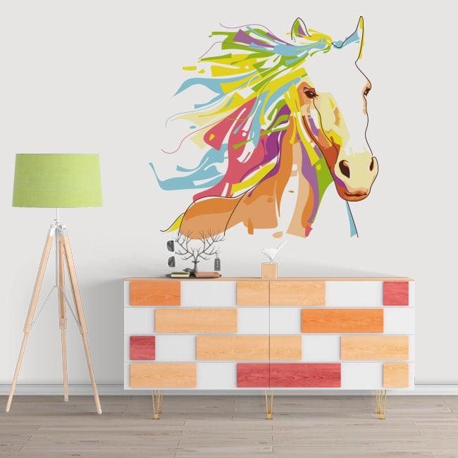 Vinile decorativo muri cavallo stile wpap