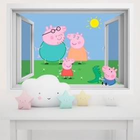 Vinili pareti per bambini peppa pig 3d