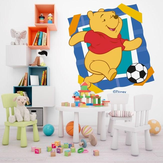 Vinile e adesivi winnie the pooh soccer