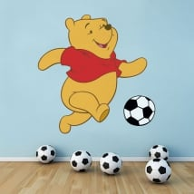 Sticker murale winnie the pooh soccer