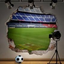Vinili stadio di calcio camp nou barcellona 3d