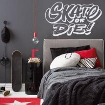 Adesivi murali e decalcomanie pattinare o morire