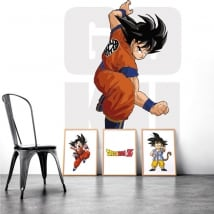 Vinile decorativo muri goku dragon ball