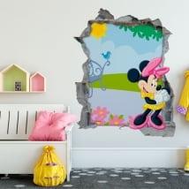 Adesivi murali minnie mouse disney 3d