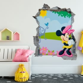 Adesivi murali minnie mouse disney 3d