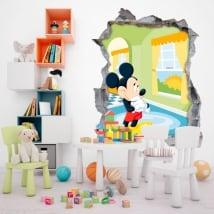 Adesivi murali disney mickey mouse 3d