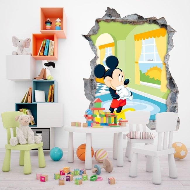 Adesivi Murali Per Bambini Disney.Adesivi Murali Disney Mickey Mouse 3d