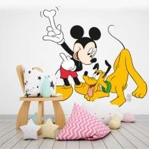 Vinile per bambini topolino e plutone disney