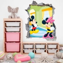 Vinili muri disney mickey e minnie mouse 3d