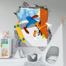 Vinili muri disney goofy 3d