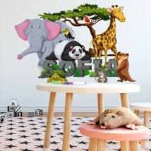 Adesivi animali decorano le stanze dei bambini
