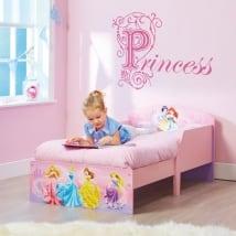 Vinili decorare le stanze dei bambini testo principessa