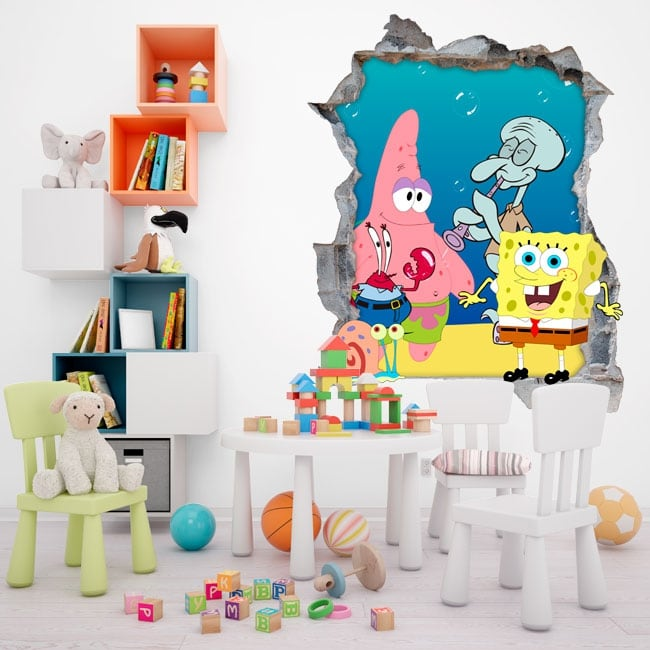 Vinili spongebob decorare la stanza dei bambini for Decorare stanza universitaria