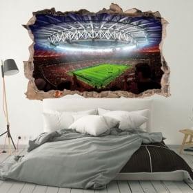 Vinili muri stadio di calcio mondo russia 2018 3d