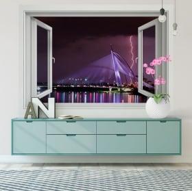 Vinili finestre raggi malesia putrajaya città 3d
