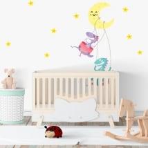 Vinili stanze per bambini dinosauri luna e stelle