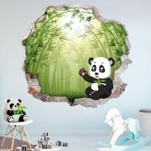 Vinili pareti per bambini orso di panda 3d