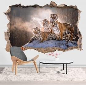Vinile e adesivi tigri del bengala 3d