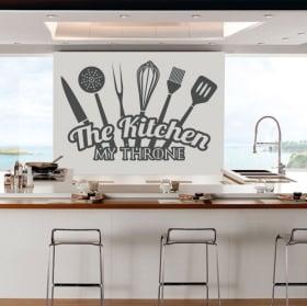 Sticker murale la cucina il mio trono
