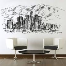 Vinile e adesivi disegno dello skyline città degli angeli