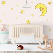 Vinile adesivo luna e stelle dei bambini