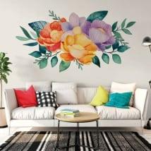 Vinile e adesivi fiori ad acquerelli