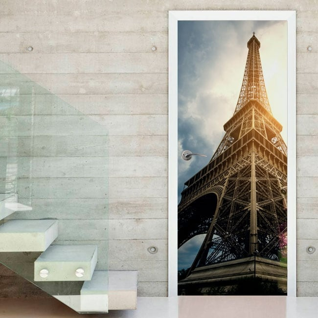 Vinile E Adesivi Per Porte Torre Eiffel Parigi
