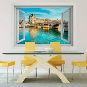 Vinili muri ponte carosello fiume sena francia 3d