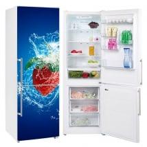Vinili frigoriferi e refrigeratori spruzzata di fragole