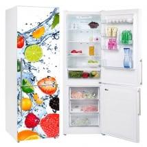 Vinili per frigoriferi frutta spruzzi d'acqua