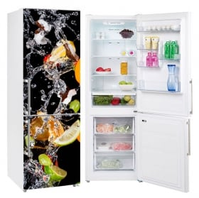 Vinili per frigoriferi frutta e acqua