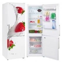 Vinili per frigoriferi fragole con latte