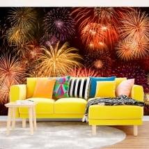 Murales di vinile fuochi d'artificio
