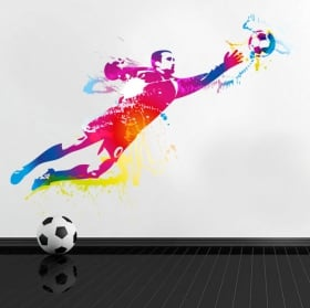 Vinile e adesivi giocatore di calcio