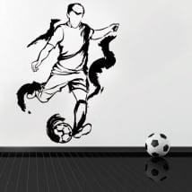 Vinile e adesivi silhouette giocatore di calcio