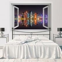 Vinili finestra città di doha qatar 3d