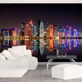 Murales città di doha qatar