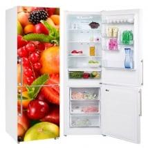 Vinili per frigoriferi collage di frutta