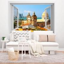 Vinili finestra cartagena de indias colombia 3d